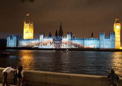 Houses of Parliament Olympic Games 2012 The Projection Studio 1