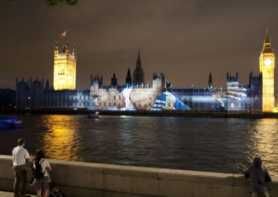 Houses of Parliament Olympic Games 2012 The Projection Studio 2