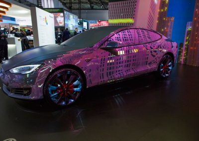 Tesla-Car-for-Panasonic-at-ISE-The-Projection-Studio-1