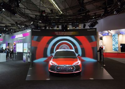 Tesla-Car-for-Panasonic-at-ISE-The-Projection-Studio-5