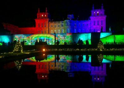 Bleheim Castle Christmas The Projection Studio